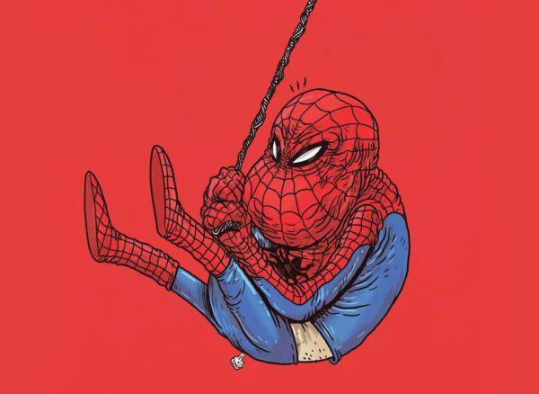 Spiderman anziano