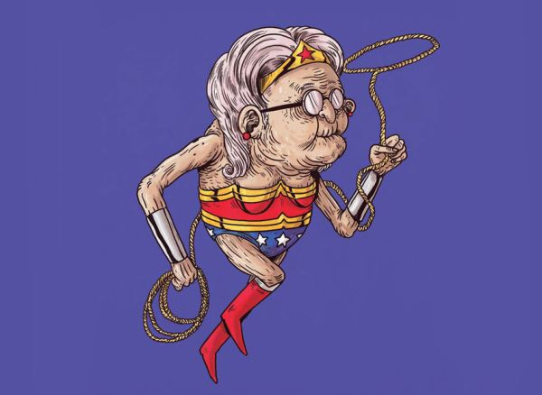 Wonder Woman anziana