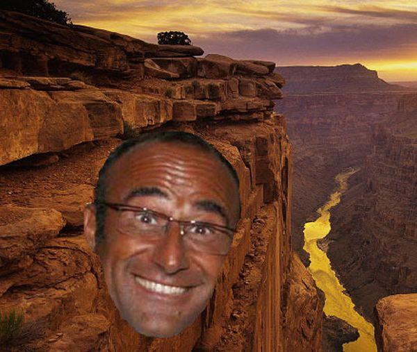 Carlo Conti nel Grand Canyon