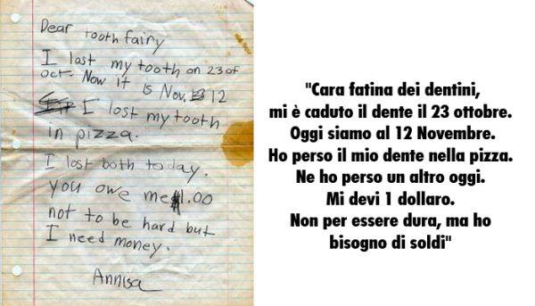 Lettera di una bambina alla fatina dei denti