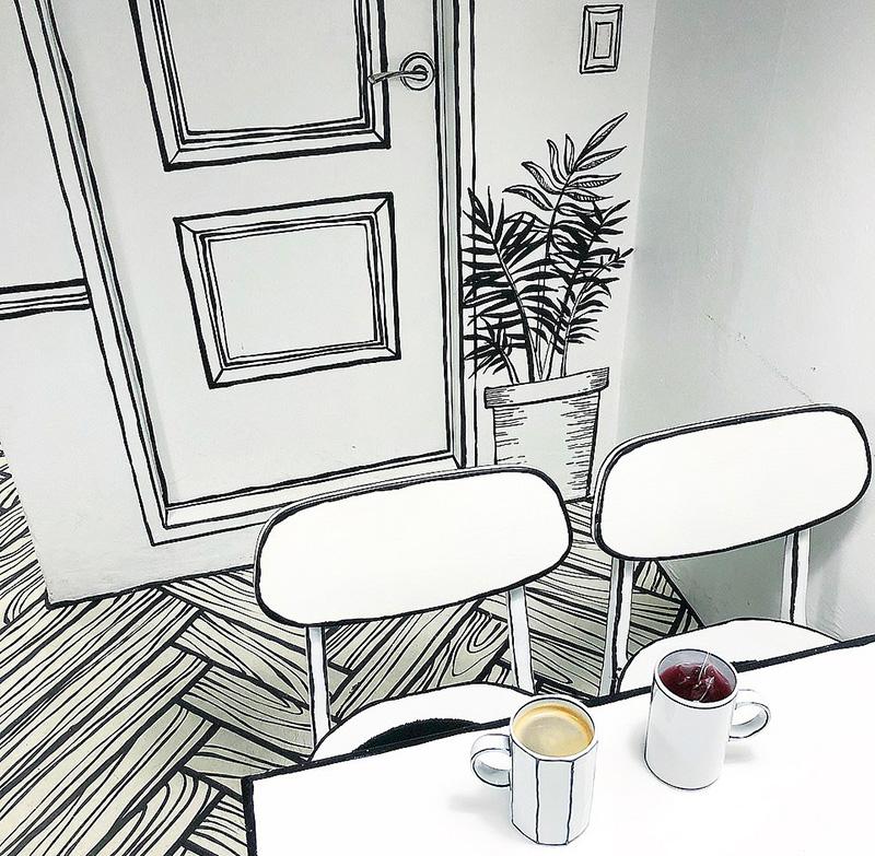 Cafe Yeonnam-dong a Seul, un bar o un fumetto?